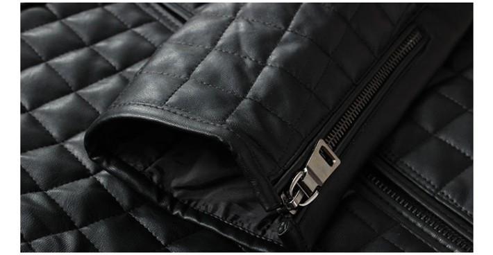 2014 New Style Men's Popular Handsome PU Jacket  Plus Velvet Warm Plus Size M-5XL MWJ650