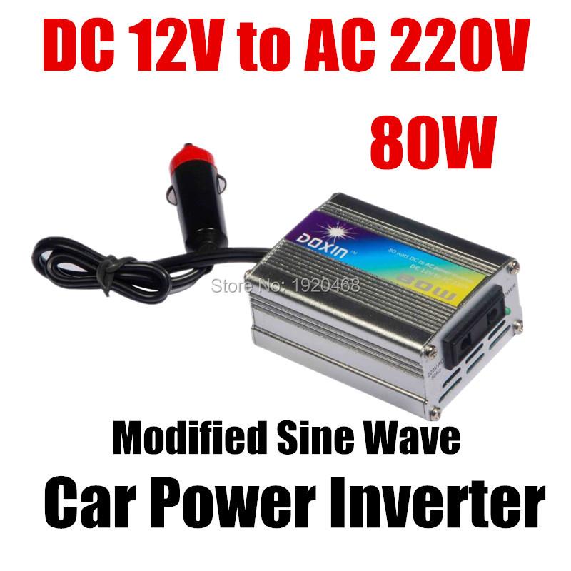 New 80w Car Power Inverter charger with Cigarette lighter solar inverter DC12V Output AC 220V+/- 5% universal plug(China (Mainland))