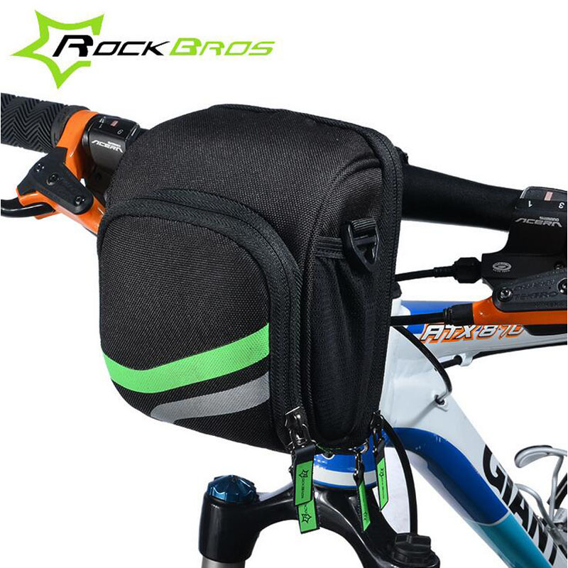 RockBros Cycling Bag Bicycle Handlebar Bag Mountain Bike Front Tube Bag With Rain Cover Bike Accessories One-shoulder Bag(China (Mainland))
