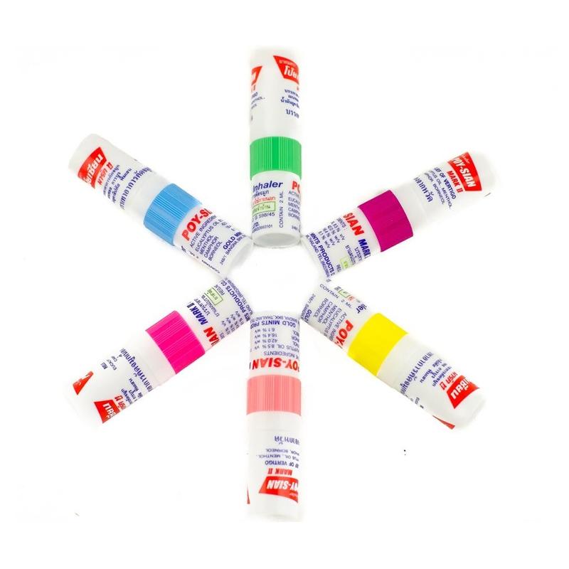 Original Thailand Poy-Sian Mark 2 II Herbal Nasal Inhaler Poy Sian Nasal Inhaler Stick Mint Cylinder Essential Oil Nasal Inhaler<br><br>Aliexpress