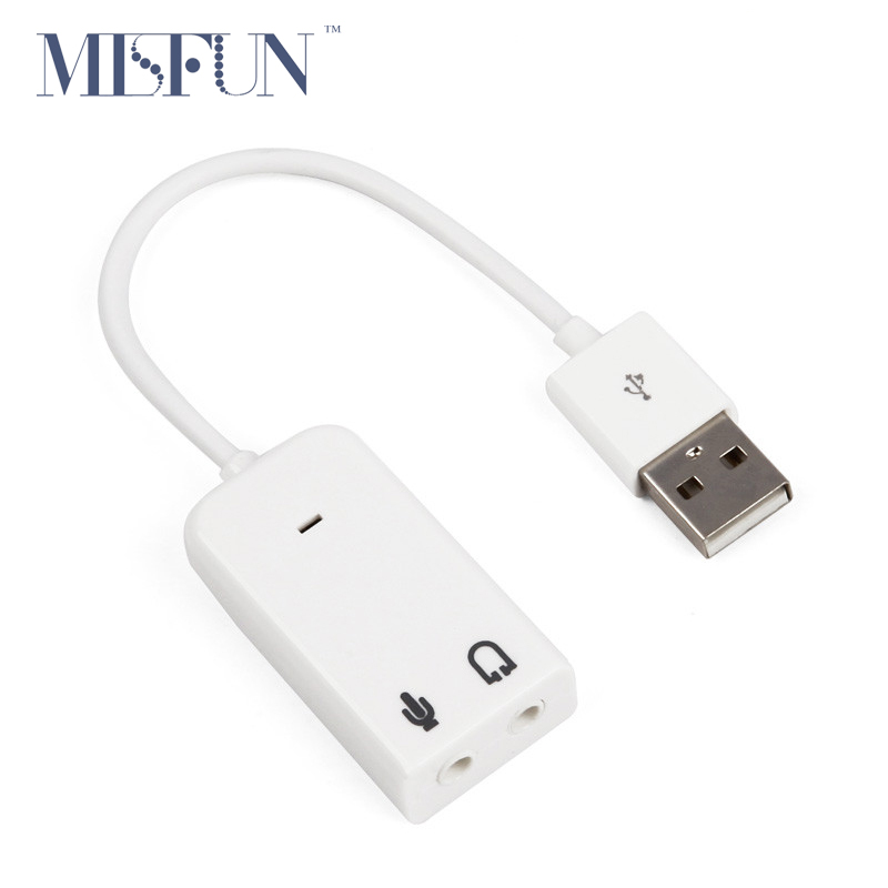 3D Hot Sale White 2.0 Virtual 7.1 Channel External USB Audio Sound Card Adapter Sound Cards For Laptop PC Mac With Cable(China (Mainland))