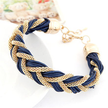 2016 Trendy metal chain bracelets & bangles gold Plated Bracelet Bangle For Women accessories Jewelry FREE SHIPPING(China (Mainland))