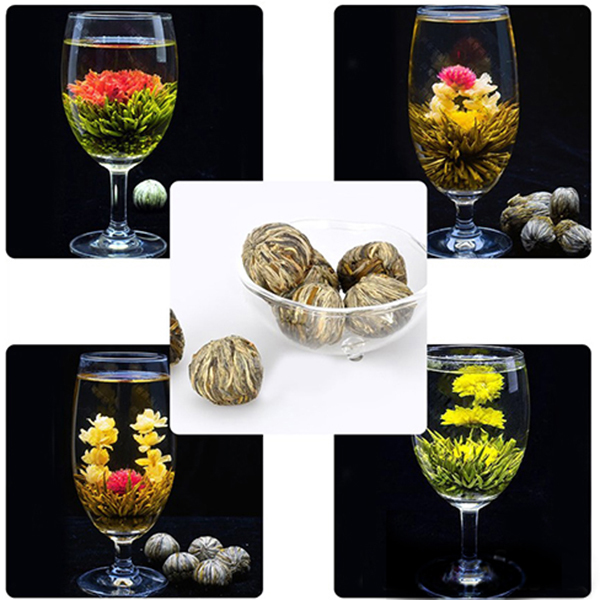 Chinese Handmade Blooming Flower Tea Ball Bloom Flower Herbal Green Tea 20 Kinds For Freeshipping