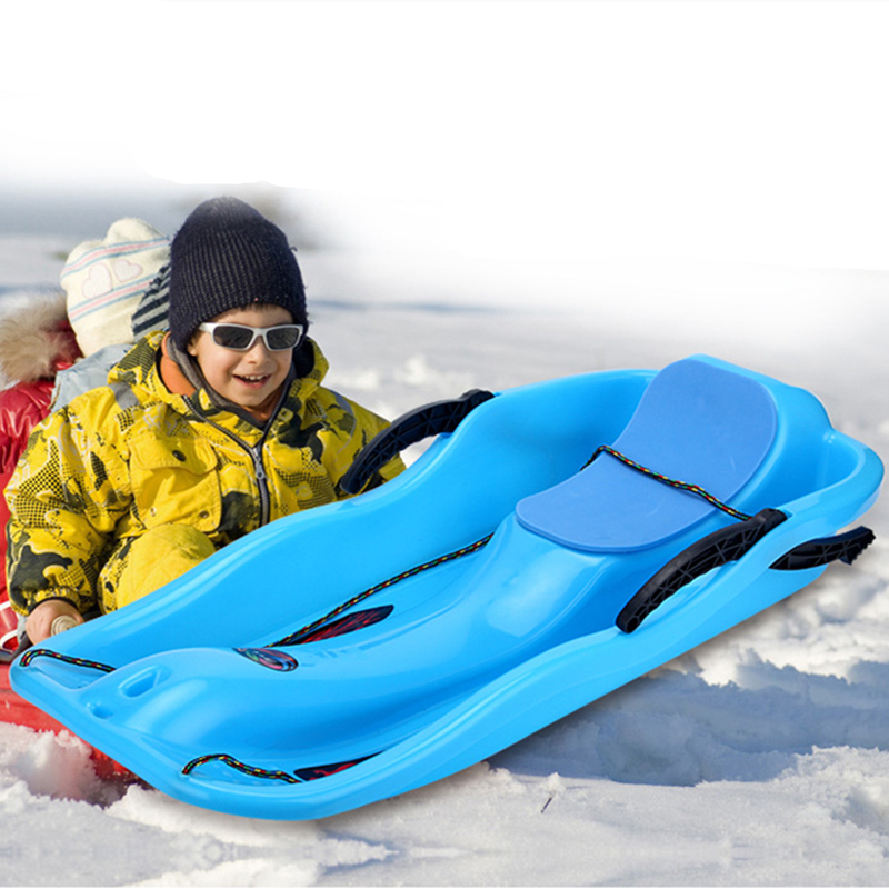 Winter Snow Skiing Board Kids Adults Snow Grass Sand Skating Ski Boat With 87cm*40cm*18.5cm With Brake And Tie(China (Mainland))