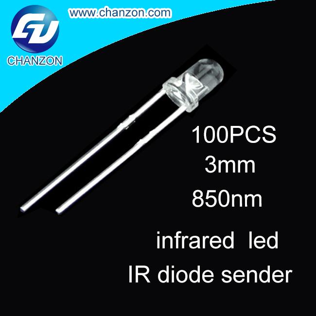 100PCS 3mm IR Led 850nm Lamp Transmitting Tube Emitting Diode Infrared LED Diode IR 850nm High Power(China (Mainland))