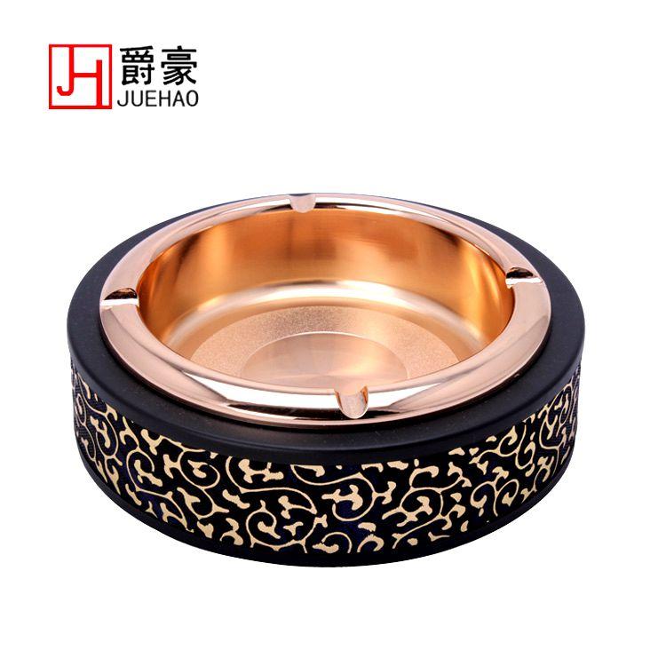 Ktv quality ashtray stainless steel Large circle commercial ashtray decoration(China (Mainland))