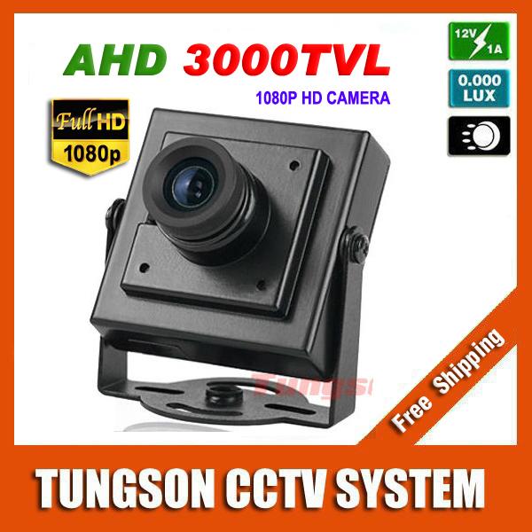 NEW Product 3000TVL Security Small Mini Video Surveillance 2MP AHD 1920*1080P Micro CCTV Camera Free Shipping(China (Mainland))