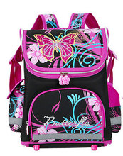 Delune Brand Children School Bags Orthopedic School Backpack Butterfly Mochila Escolar Children's Backpack For Girls 6 Colors(China (Mainland))
