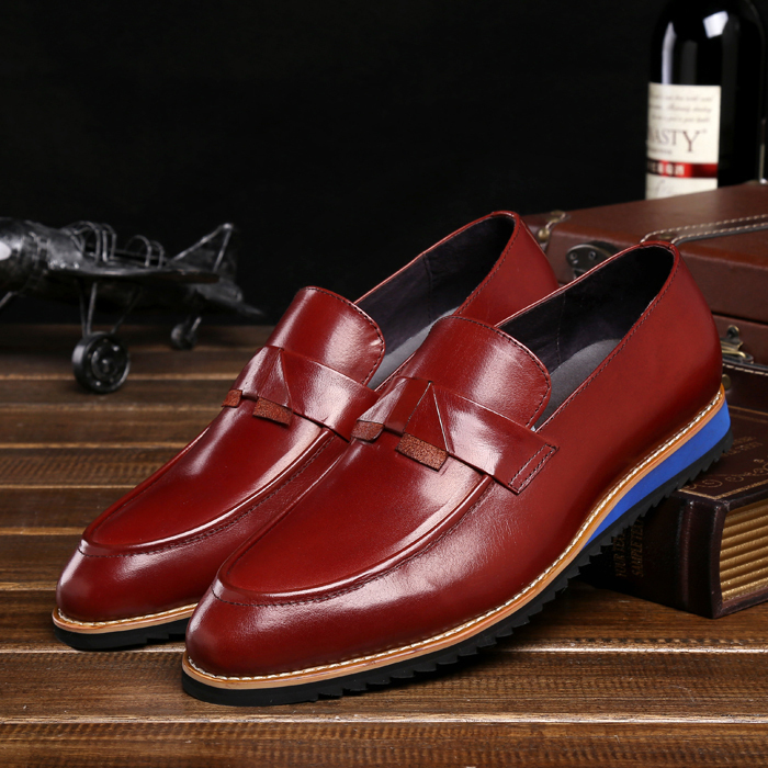 Фотография 2016 New Arrival High Quality Real Genuine Leather Cowhide Man Formal Designer Brand Loafers Men