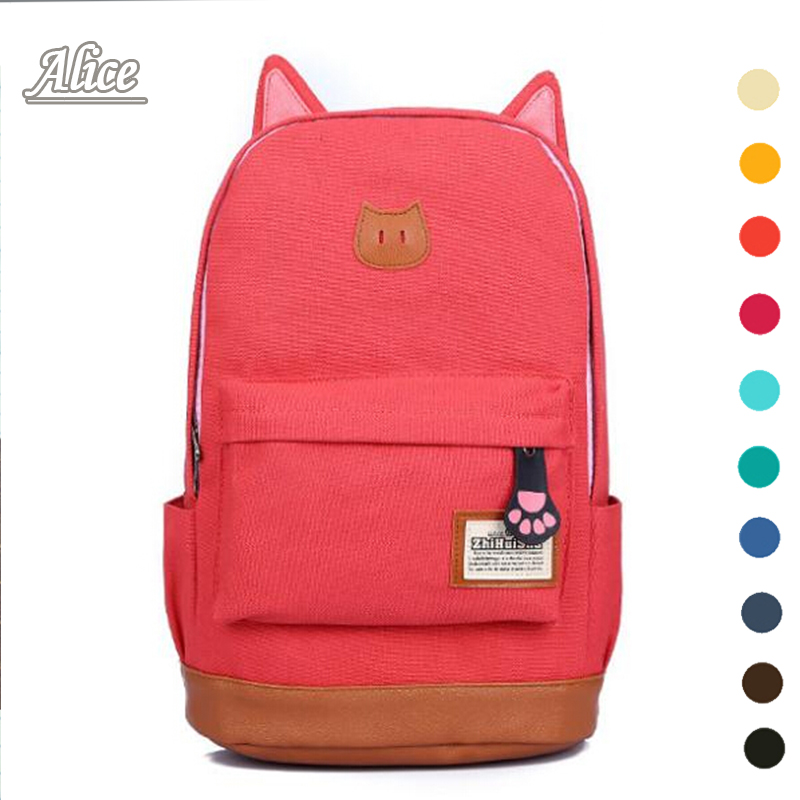 2015 Brand designer women Simple Style backpack fashion PU leather Black school