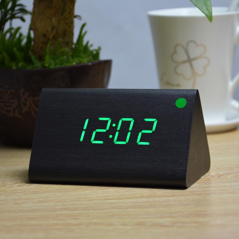 Wholesale Modern Thermometer Desk Clocks, LED Digital clock, Alarm Clock,Sound Control MIni LED Table Clock(China (Mainland))