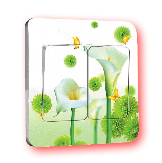 2016 new hot The new professional Calla flower wall stickers transparent color switch stickers Warm Family(China (Mainland))