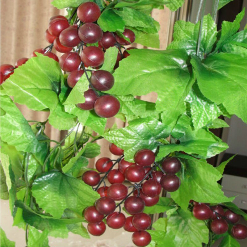 Buy 10x length artificial grape vine for Artificial grape vines decoration