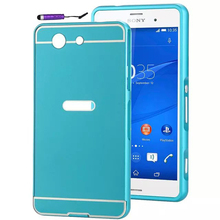 Buy Sony Xperia Z3 Compact Case Z3 Mini D5803 D5833 M55W Cover Dual Hybrid Aluminum Metal Frame + Hard PC Back Cover Phone Cases for $3.20 in AliExpress store