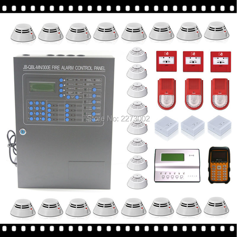 One Loop 200 Points Addressable Fire Alarm Control System ...