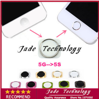 100% Brand New High quality Replacement for iPhone 5 5G colors Home Button Key with Metal Ring Same Look As for iPhone 5S