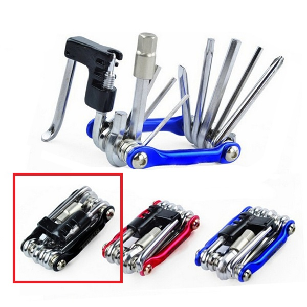3 Colors 10 in 1 Bicycle Moutain Road Bike Tool Set Bicycle Cycling Multi Repair Tools Sets Kit Wrench Screwdriver Chain Cutter(China (Mainland))