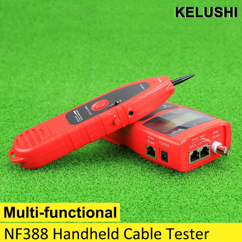 KELUSHI 2016 NF-388 Multipurpose Network LAN Phone Cable Tester w/ 8 Far-end Test Jacks Hunt 5E 6E Line Tracer(China (Mainland))