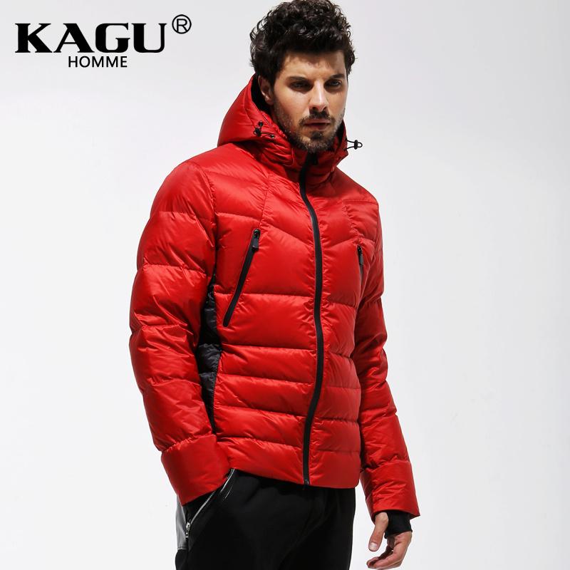 KAGU Brand new 2015 Fashion Mans Thicken White Duck Down  Jacket Coat Hood Parka European Size Free Shipping 3411008Одежда и ак�е��уары<br><br><br>Aliexpress