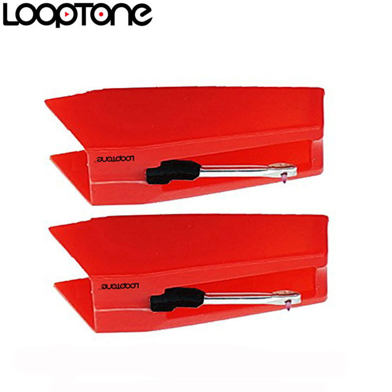 LoopTone 2PCS Sapphire Tipped Ceramic Needle for Vinyl LP Record Player Turntable Players, Gramophone Accessory(China (Mainland))