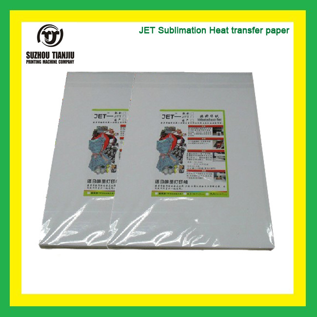 TJ JET Sublimation Heat Transfer Printing Paper 100sheet/pack A3(China (Mainland))
