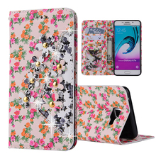 Buy Retro 3D Diamond Flower Luxury Wallet PU Leather Flip Stand Holder Cover Cases Samsung Galaxy A3 A310 A5 A510 A7 A710 A8 A9 for $6.12 in AliExpress store