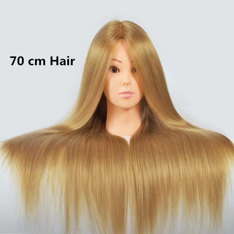 "24""Hair Mannequin Head Hair Fake Hairdressing Doll Heads Training Manikin with Synthetic Hair Manik Cosmetology Educational doll(China (Mainland))"