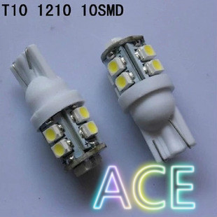 10X T10 10smd led W5W 168 194 10 1210 3528 LED SMD Car Wedge Light Lamp Bulbs White Five Color(China (Mainland))