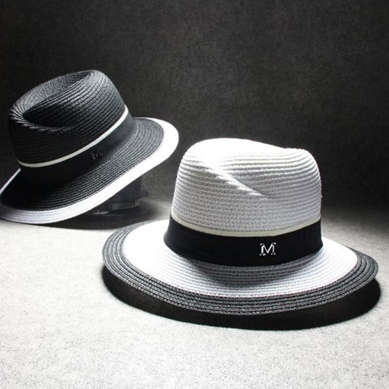 2015 Maison Michel floppy hat summer hat fedoras straw hat for girl hat black white beach hat 3C278Одежда и ак�е��уары<br><br><br>Aliexpress