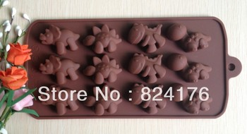 Free shipping Dinosaur type silicone cake Chocolate Mold Jelly Mold Cake Moulds Bakeware
