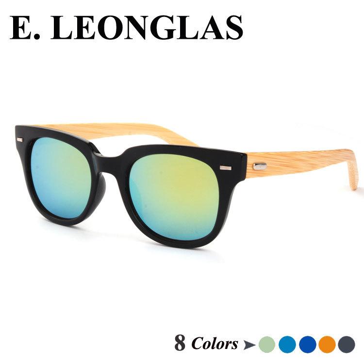 Hot sale sun glasses female bamboo arms metal hinge men eyewear with mirror lens sunglasses UV400 sun glasses for women(China (Mainland))