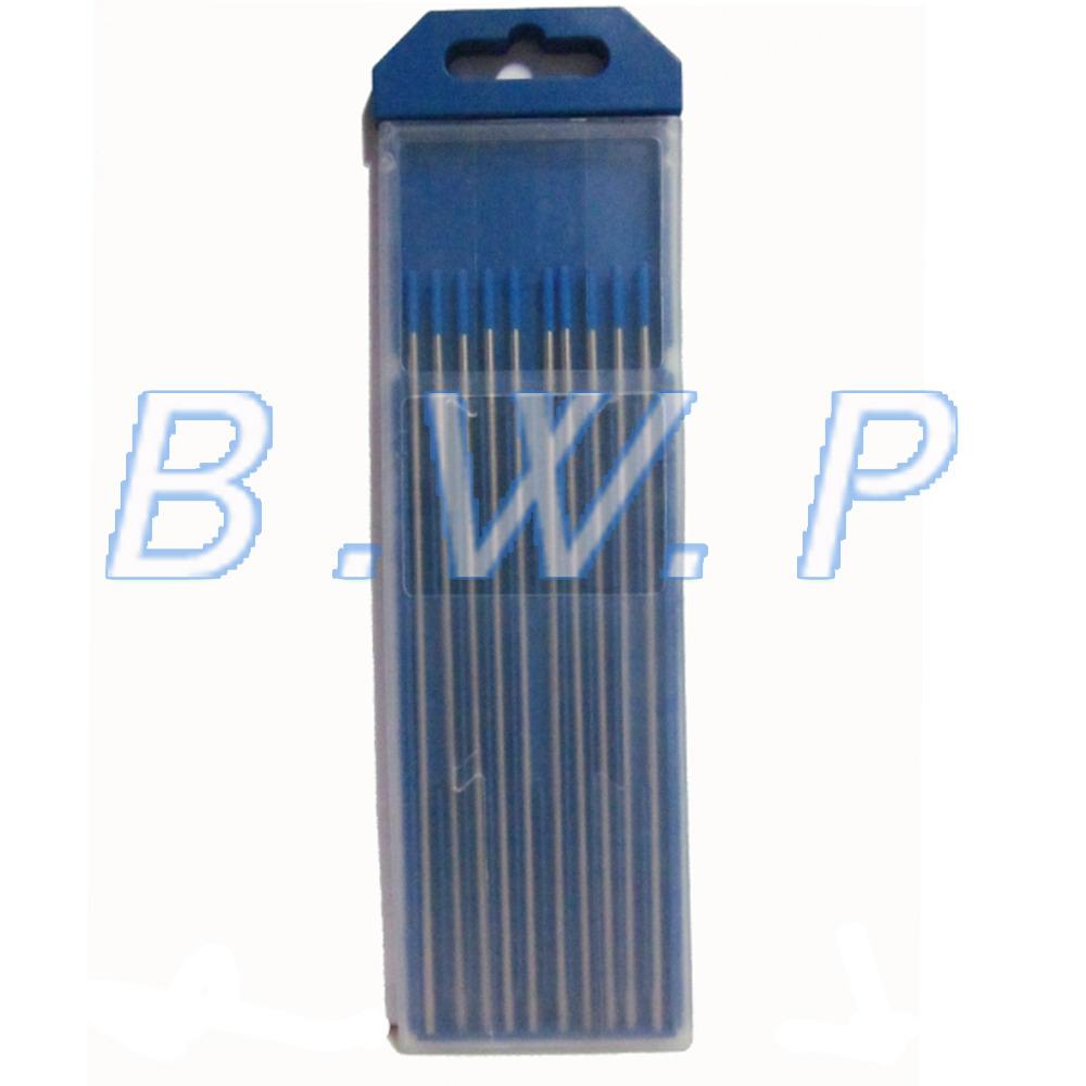 """2.4 * 150 mm 3/32 """" * 6 """" bleu pointe WL20 2.0% Lanthanated TIG électrodes en tungstène tiges pour DC / AC TIG Machine de soudage 10 pcs(China (Mainland))"""