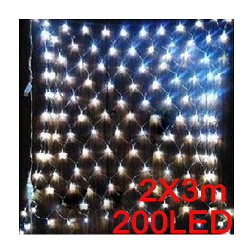 #Cu3 Newest 2mx3m 200 LED White Web Net Fairy Light For Xmas Wedding Party Garden Xmas<br><br>Aliexpress