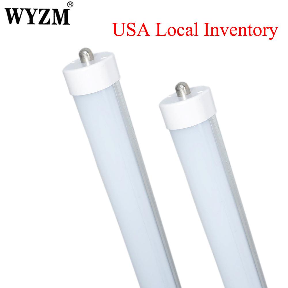 50pcs 8ft 2.4m 40w FA8 Single Pin Base T8 LED Tube Light Lamp Cold White Milky Lens<br><br>Aliexpress