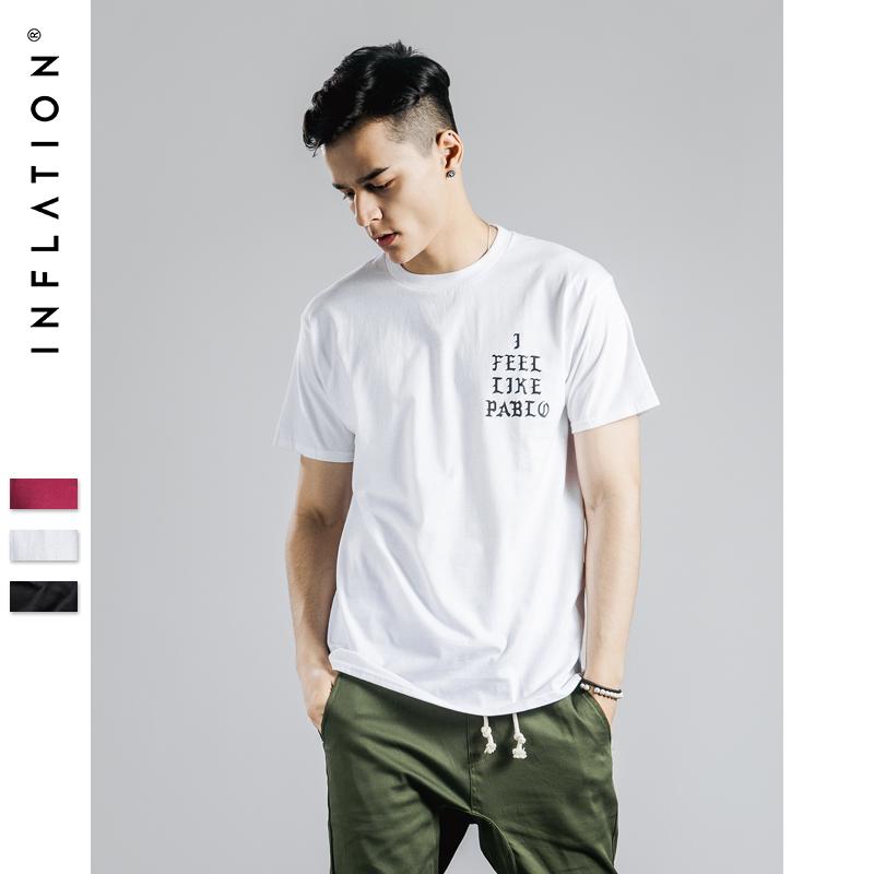 INFLATION |Kanye West Clothing Hip Hop Tees I FEEL LIKE PABLO Printing T-Shirt 2016 Streetwear Short Sleeve Men T Shirts S-3XL(China (Mainland))