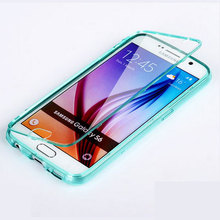 Buy samsung galaxy s6 case High 100% transparent material Flip TPU Back cover samsung galaxy s6 Phone Bag cases for $5.95 in AliExpress store