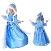 Baby font b Girls b font Dress Elsa Jurk Anna Party Dress Kids fashion summer Princess