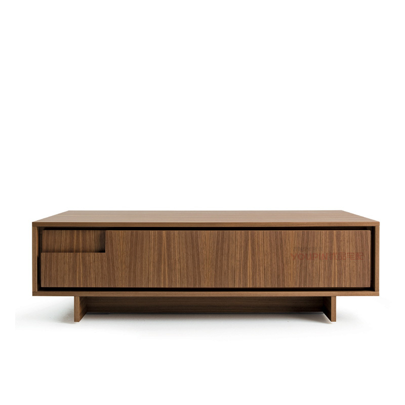 Custom furniture nordic style minimalist design new models of natural walnut nightstand drawers - Nordic style furniture ...