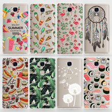 TPU Soft Case For Huawei Honor 5X Transparent Ultra-Thin Silicone Phone Cover For Huawei Honor 5x