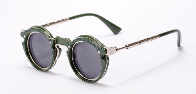 Retro Steampunk Designe Round Sunglasses