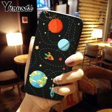 Yinuoda raum mond astronaut Luxus Einzigartige Design Telefon Abdeckung für iphone 8 7 6 6 S Plus 5 5 S SE XR X XS MAX Coque Shell(China)