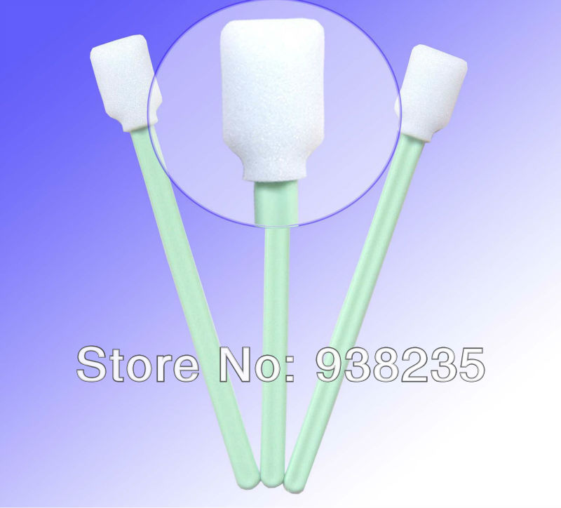 Free Shipping - 100 pcs Foam tip Solvent Cleaning swabs for Roland Soljet, Versacamm, XC540(China (Mainland))