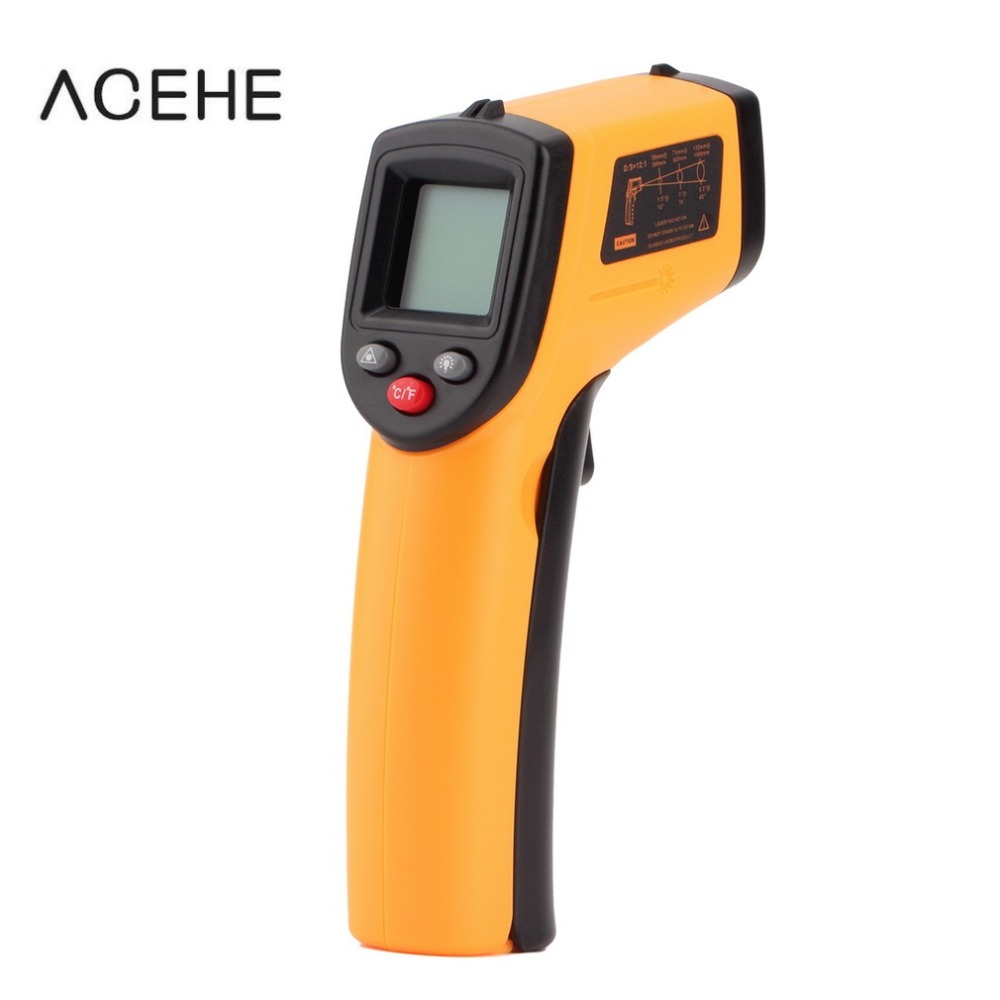 Digital Thermometer Non-Contact IR Laser Display Digital Infrared Thermometer Temperature Meter Gun Point -50~380 Degree(China (Mainland))