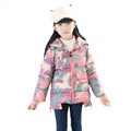 2016 Winter Warm Windproof Children Down Coat For Girl Kids Camouflage Polyester Print Big Girls Clothes