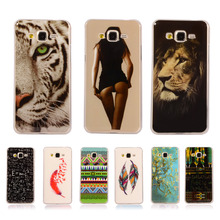 Cartoon Soft TPU Silicon For Samsung Galaxy Grand Prime G530 G530H G5308W G5308 Cute Flower Printed Cover Protective Phone Cases