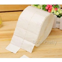 500Pcs/reel Professional Nail Polish Remover Cotton White Soft Polish Remover Paper(China (Mainland))