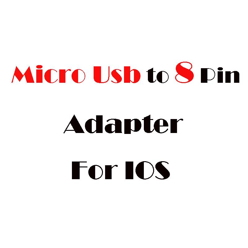 100 pcs 2016 Micro Usb to 8 Pin Adapter Charger Converter for iphone 6 plus Micro usb Adapter For iPhone 5 5S 5C IPAD 4 IPOD