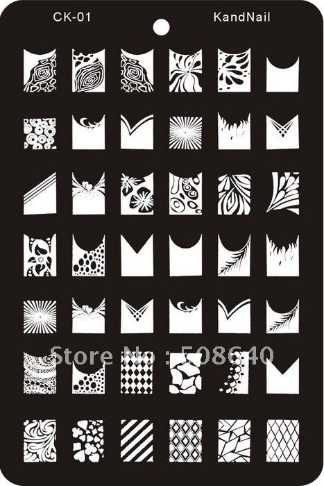 Nail Art Stamp XL Template For Fingernail Desgin  Set 8pcs Draw Tool Products Wholesale-FreeShipping 033<br><br>Aliexpress