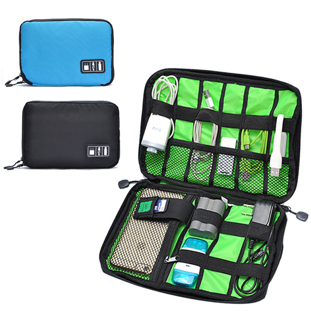 High Quality Portable Fashion Digital Device Organizer Storage Bag for U Disk Cable Charger(China (Mainland))