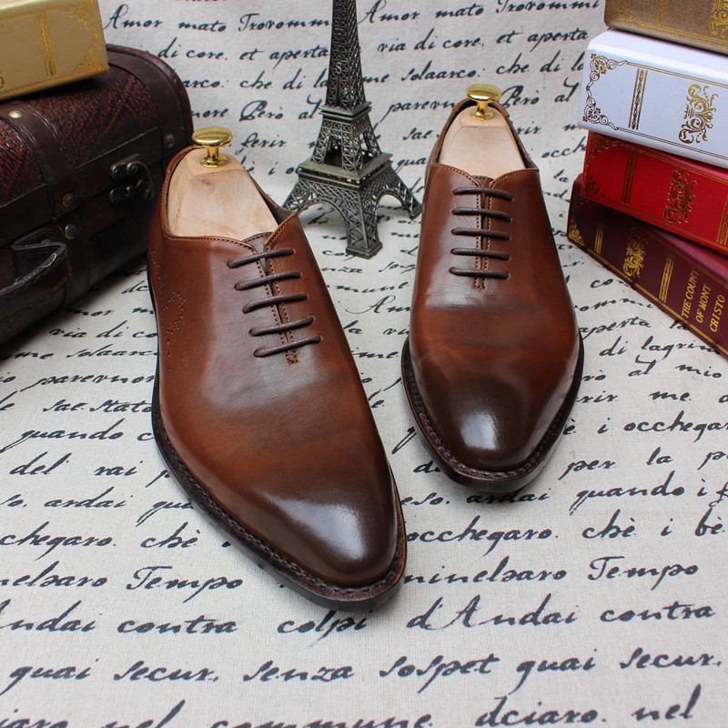 SKP135 Custom Made Goodyear 100% Genuine Leather Handmade Oxfords Shoes, Mens Handcraft Dress Formal Shoes Large/Plus Size<br><br>Aliexpress